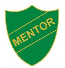 Green Mentor Shield Badge